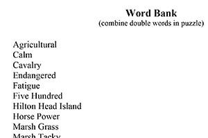Crossword Word Bank